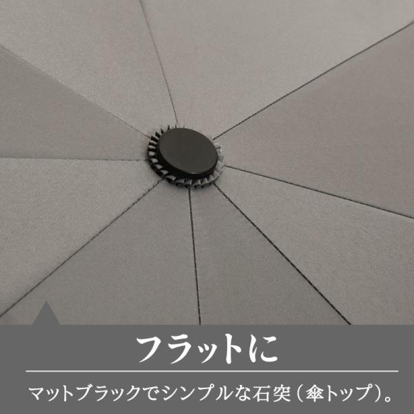 日傘 折りたたみ傘 メンズ 晴雨兼用 完全遮光 撥水 超軽量 おしゃれ UVカット 100% 遮光 遮熱 折りたたみ 傘 コンパクト 丈夫 耐風 男性用 グレー kurashikan 08