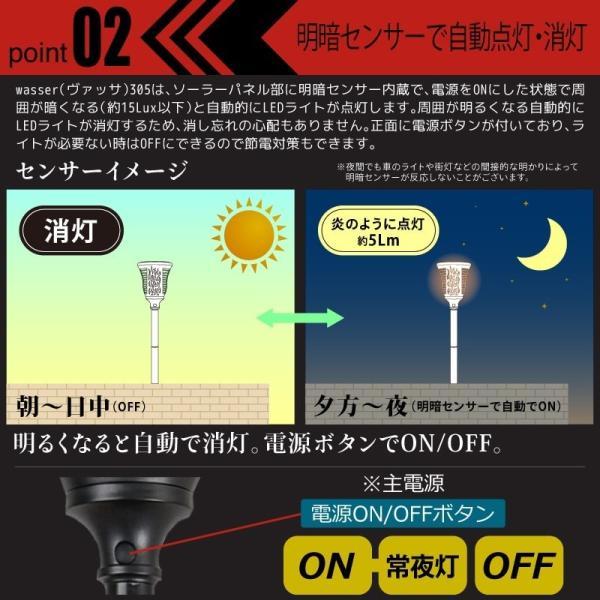 6個セット ガーデンライト ソーラーライト 埋め込み式とブラケット型兼用 led  屋外 おしゃれ 防水 kurashikan 04