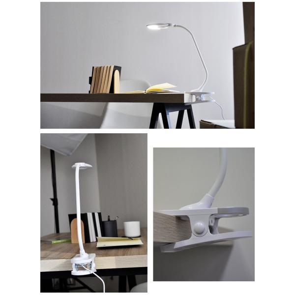 デスクライト クリップライト LED 調光 目に優しい おしゃれ 照明 学習机 読書灯 寝室 wasser|kurashikan|02