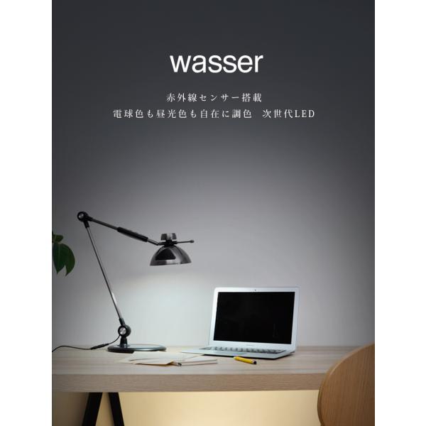 デスクライト スタンドライト wasser  LED おしゃれ 間接照明 読書灯 電気スタンド スタンドランプ デスクスタンド 卓上 北欧 アンティーク 寝室 リビング|kurashikan|02