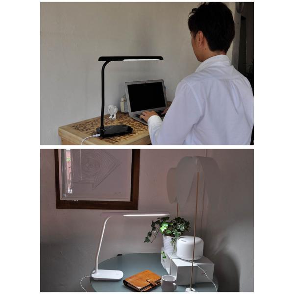 デスクライト LED 学習机 学習用 調光 目に優しい 読書灯 電気スタンド 卓上 デスク おしゃれ デスクスタンド スタンドライト 照明 スタンド|kurashikan|02
