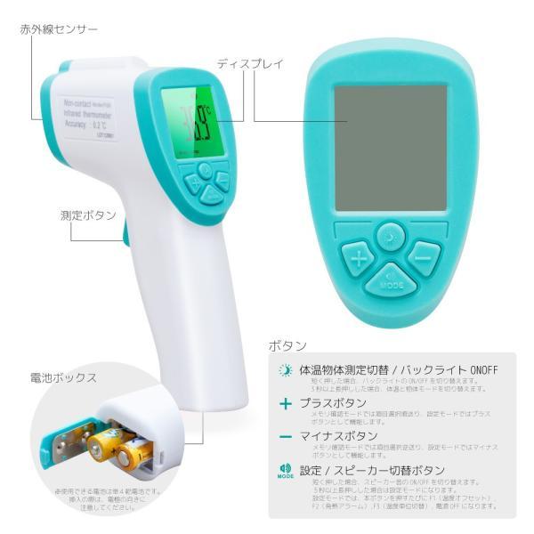 【即納】日本製センサー搭載 非接触 温度計 安住商事 FI06 (注)BODYモードで体温計測が可能ですが、医療用としての体温計(非接触型体温計)ではございません|kurasinomi|02