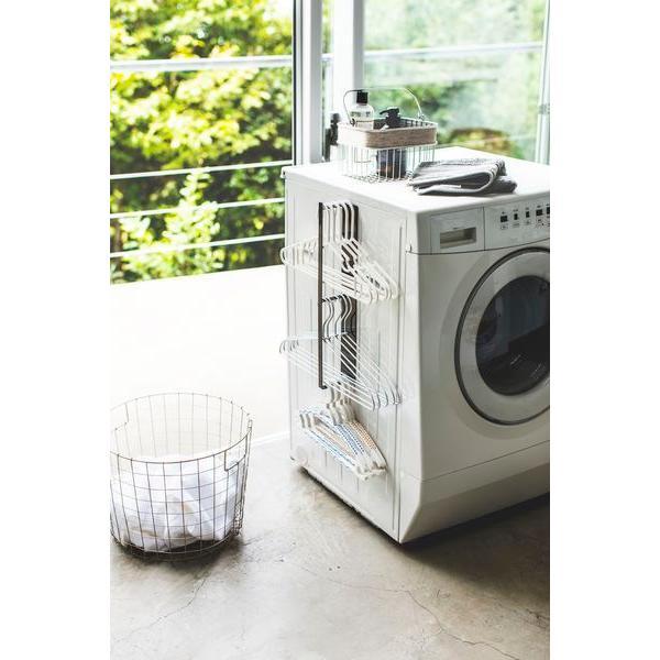 マグネット洗濯ハンガー収納ラック タワー ブラック