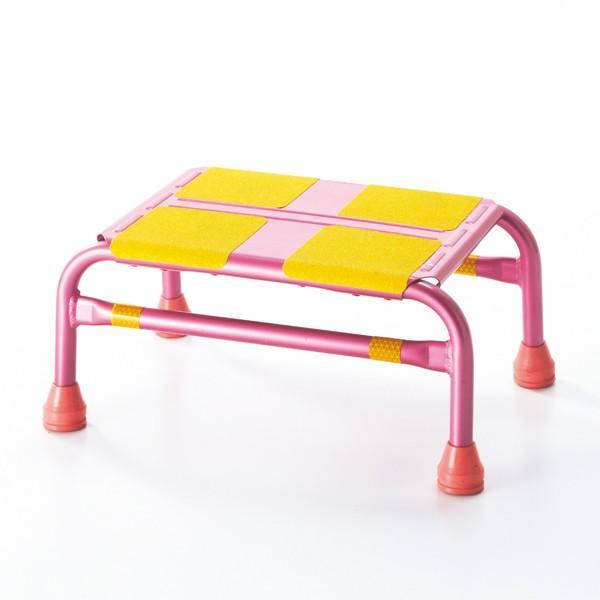 車昇降用 踏み台 ピンク ステップ-1