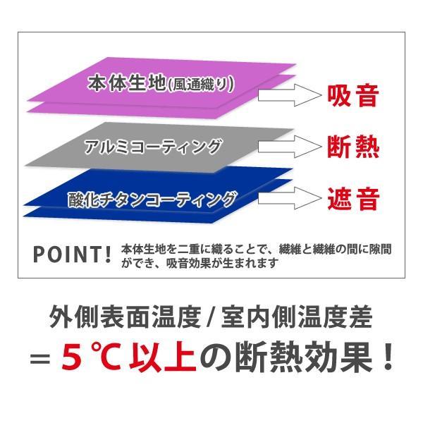 カーテン 防音 静・SHIZUKA 幅30cm〜100cm×丈251cm〜280cm ( 日本製 1枚 シンプル )|kurenai|08