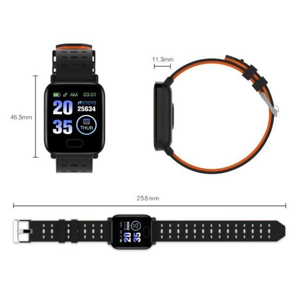 スマートウォッチ iphoneアンドロイド 英語版対応 血圧血中酸素計測 生活防水 スマートブレスレット 歩数計心拍数|kuri-store|14