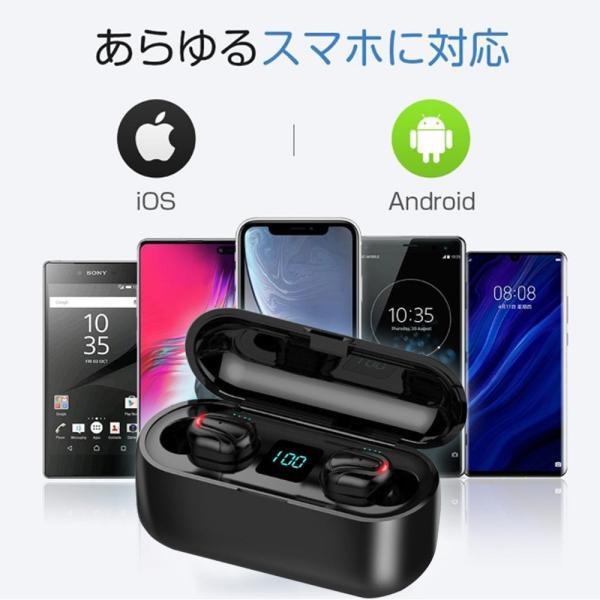 ワイヤレスイヤホン bluetooth5.0 ブルートゥースイヤホン iphone Android 対応|kuri-store|07