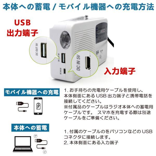 ポータブルラジオ FM/AM/対応 500MaH大容量バッテリー防災ラジオ スマートフォンに充電可能 手回し充電/太陽光充電対応 自然災害に備え|kuri-store|07