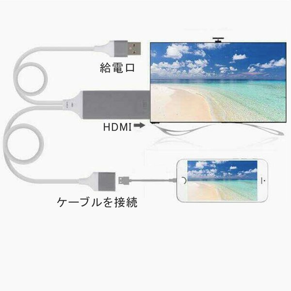 Lightning  HDMI 変換ケーブル Lightning Digital AV to HDMI 1080Pアダプタ iphone 映像出力ケーブル 設定不要 音声同期出力|kuri-store|13