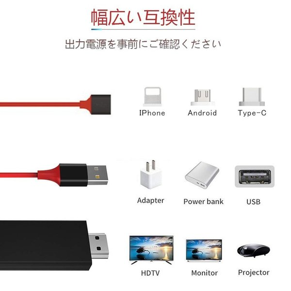 Lightning  HDMI 変換ケーブル Lightning Digital AV to HDMI 1080Pアダプタ iphone 映像出力ケーブル 設定不要 音声同期出力|kuri-store|16
