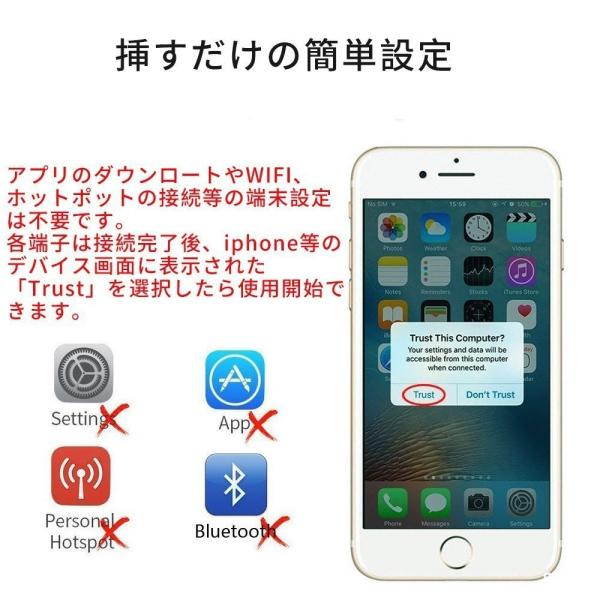 Lightning  HDMI 変換ケーブル Lightning Digital AV to HDMI 1080Pアダプタ iphone 映像出力ケーブル 設定不要 音声同期出力|kuri-store|04