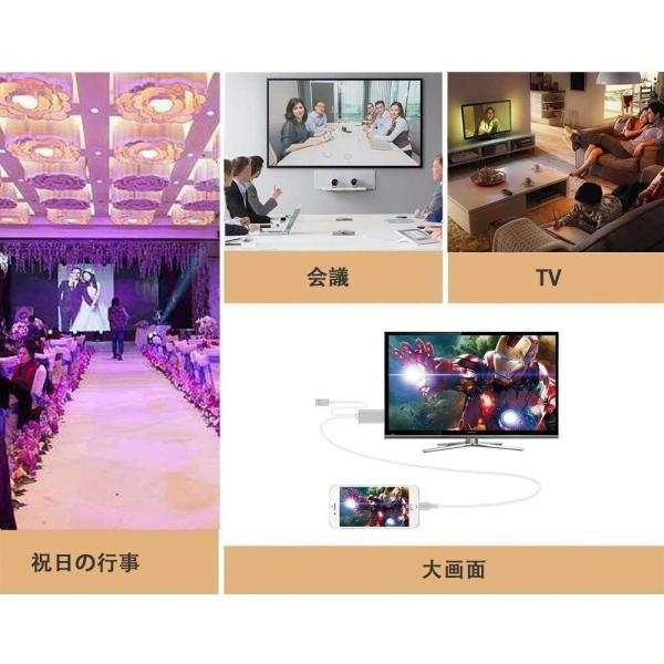 Lightning  HDMI 変換ケーブル Lightning Digital AV to HDMI 1080Pアダプタ iphone 映像出力ケーブル 設定不要 音声同期出力|kuri-store|07