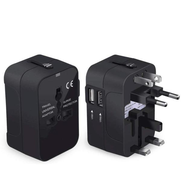 旅行用変換プラグ 海外変換アダプター 全世界対応マルチアダプター 海外旅行用充電器 デュアル USB充電 2ポート付き 変換コンセント|kuri-store|05