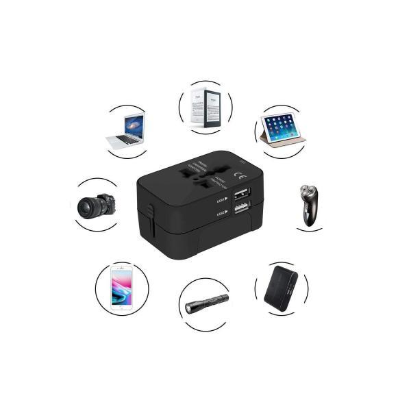 旅行用変換プラグ 海外変換アダプター 全世界対応マルチアダプター 海外旅行用充電器 デュアル USB充電 2ポート付き 変換コンセント|kuri-store|07