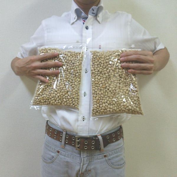 素煎り大豆 1000g 国産 チャック袋 500gX2袋 九州工場製造品 黒田屋|kurodamameya|03