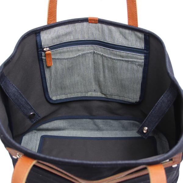 トートバッグ 帆布 キャンバス デニム 本革 マザーバッグ ビジネスバッグ 大きめ 無地 日本製 |kurodan-depot|06