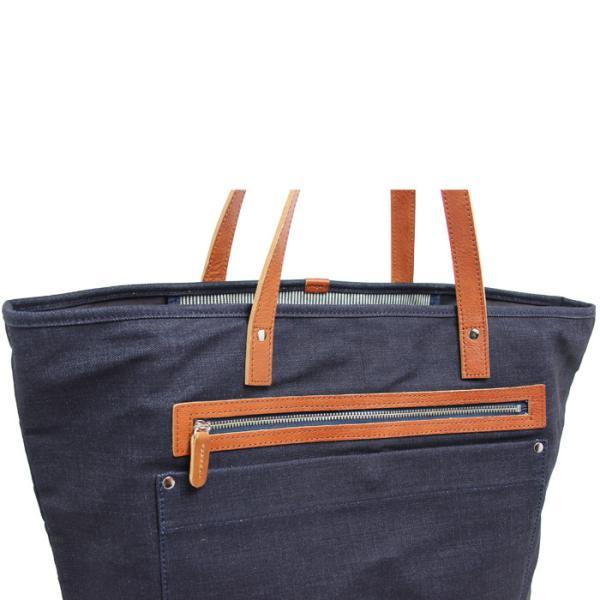 トートバッグ 帆布 キャンバス デニム 本革 マザーバッグ ビジネスバッグ 大きめ 無地 日本製 |kurodan-depot|07