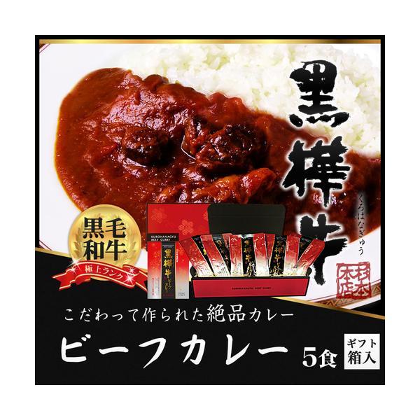 黒毛和牛 黒樺牛 ビーフカレー 5食 ギフト セット 中辛