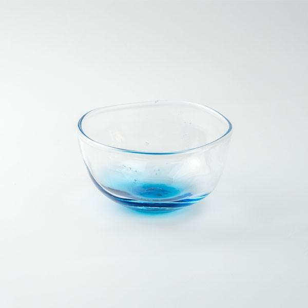 ハンドメイド テーブルウェア 食卓 日本製 記念品 お祝い プレゼント ガラス 「淡海 向付」|kurokabe