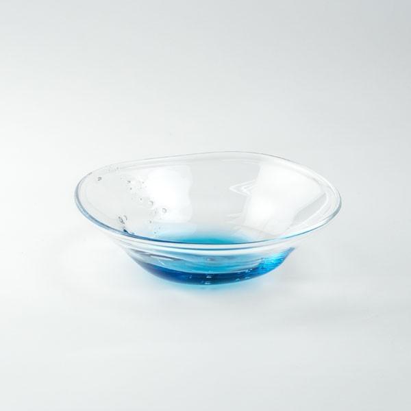 ハンドメイド テーブルウェア 食卓 日本製 記念品 お祝い プレゼント ガラス 「淡海 小鉢」|kurokabe