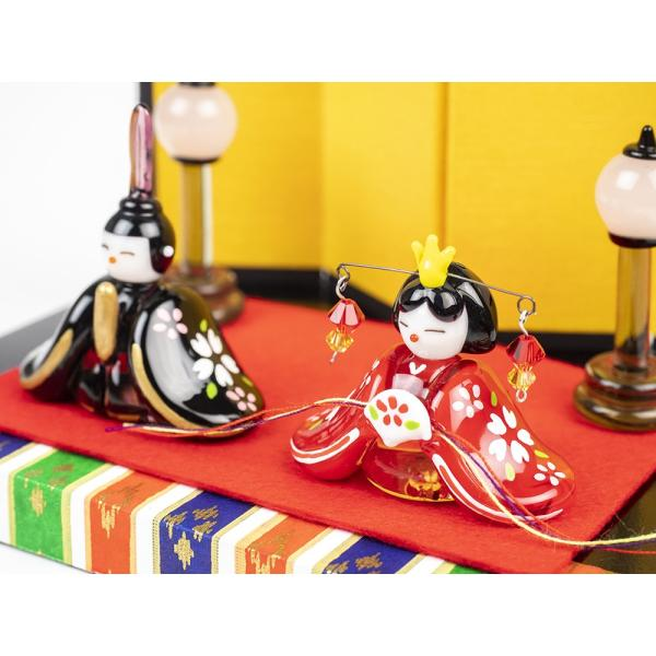 ガラスのお雛様 雛人形 ひなまつり 節句 ギフト 「京都御所雛セット」|kurokabe|03