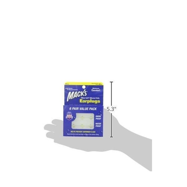 耳栓 マックスピロー シリコン ソフト 12ペア Macks Pillow 正規品 人気テレビで紹介|kurokicorp|10