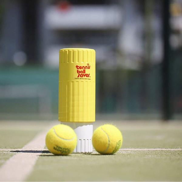 テニスボール セーバー Tennis Ball Saver ボールの空気圧を維持 何度もニューボールの打球感|kurokicorp|13