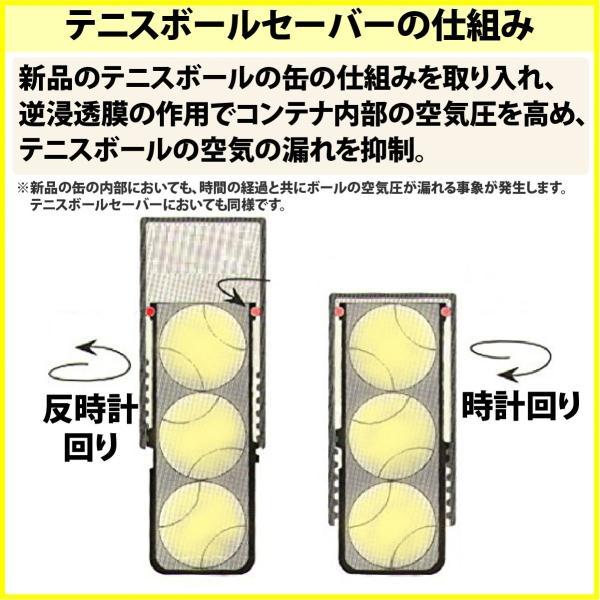 テニスボール セーバー Tennis Ball Saver ボールの空気圧を維持 何度もニューボールの打球感|kurokicorp|06