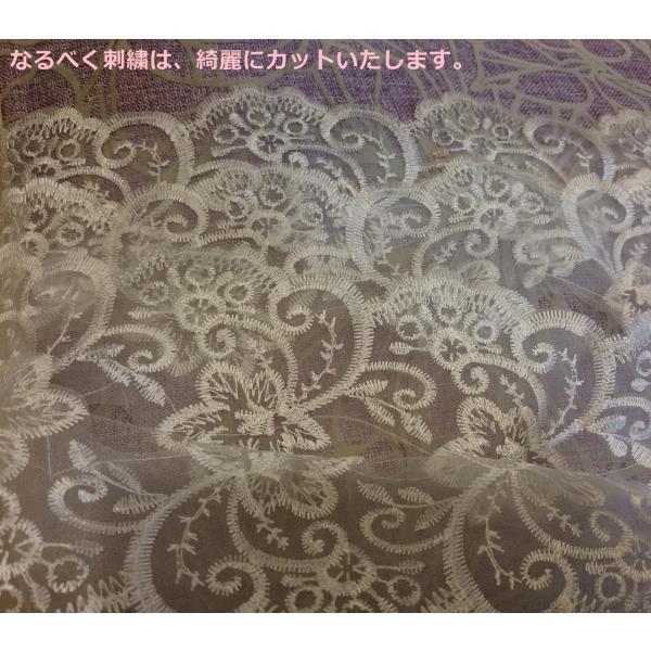 ウェディングベール ロング マリアベール フラワー 刺繍 結婚式 教会挙式 kuroneko-ya1 06
