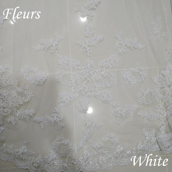ウェディングベール ロング 3m 安い コーム付き 刺繍 結婚式 教会挙式 披露宴 送料無料|kuroneko-ya1|03