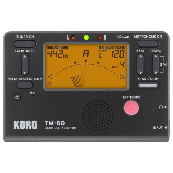 《期間限定!ポイントアップ!》KORG / コルグ TM-60 BK (チューナー/メトロノーム、ブラック)