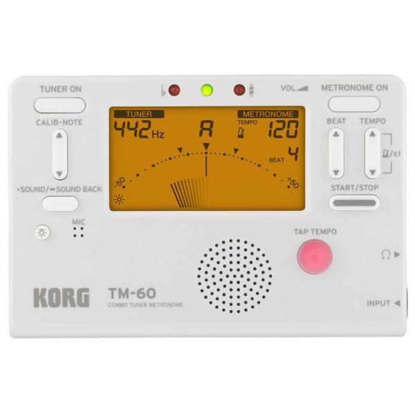 《期間限定!ポイントアップ!》KORG / コルグ TM-60 WH (チューナー/メトロノーム、ホワイト)