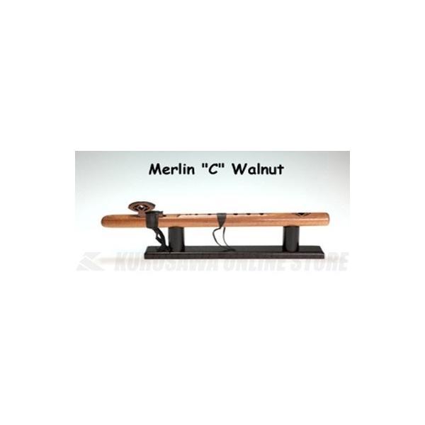 《  アップ 》HighSpiritsFlutesマーリン106-Wkey/Cウォルナット材450mm(インディアンフルート)(