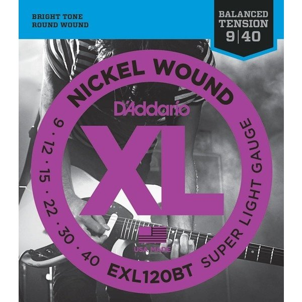 D'Addario EXL120BT XL Balanced Tension (09-40)(エレキギター弦)(10セット)