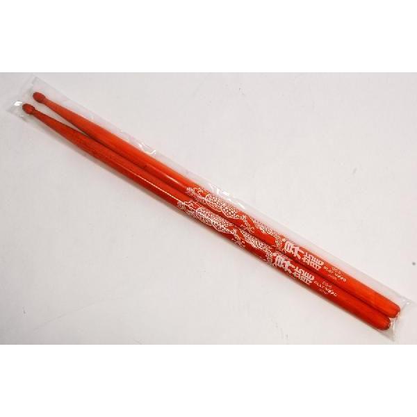 《期間限定!ポイントアップ!》ドラムスティックDS-5昇龍 オレンジ白文字