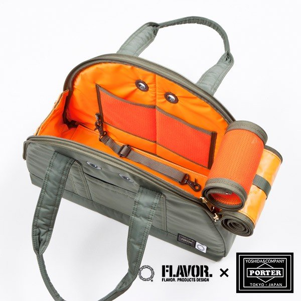 FLAVOR.×PORTER(フレーバー×ポーター) ハーフムーンバッグ Sサイズ 4th model for Exclusive (fpd-080/吉田かばん/犬用キャリーバッグ/)同梱不可|kurosu|02