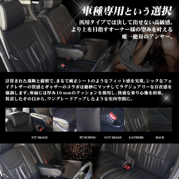 アクア アクセサリー パーツ シートカバー ブラック|kuruma-com2006|02