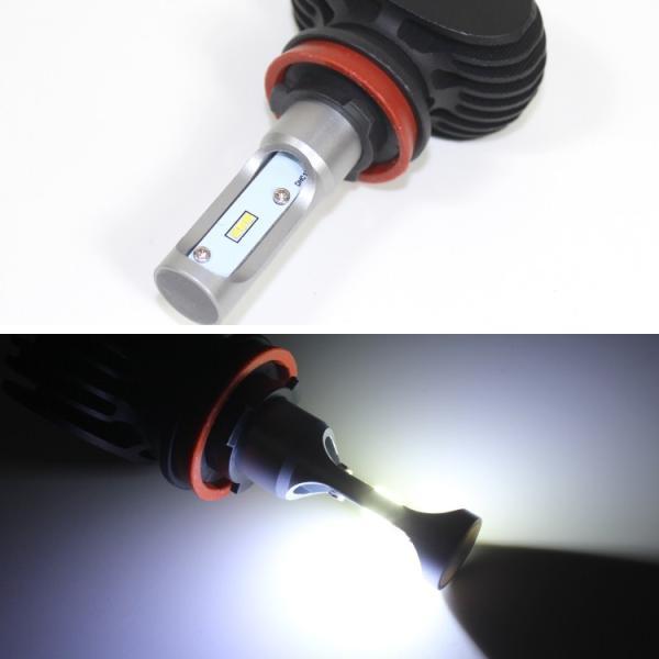 H11 LED フォグランプ ヘッドライト 車検対応 12V 24V オールインワン ファンレス 8000LM 爆光|kuruma-com2006|05