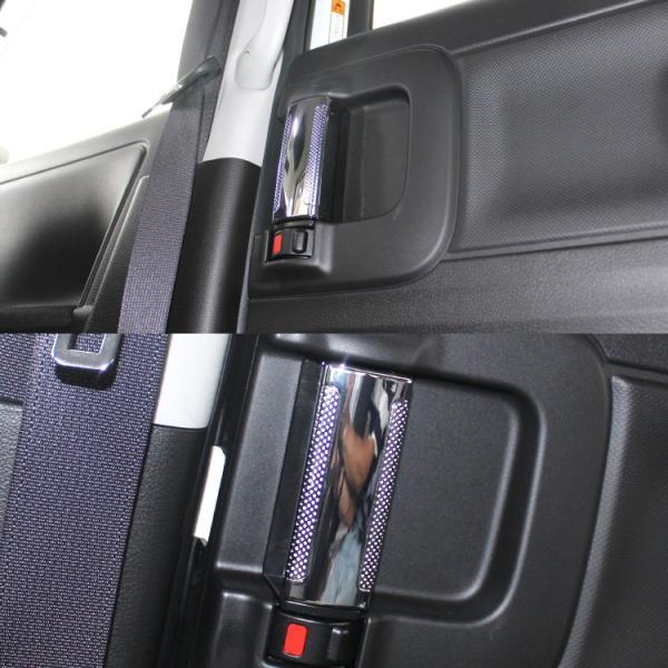 新型 スペーシア カスタム MK53S インナードア メッキガーニッシュ 後部座席 ドアハンドルカバー ドアノブ ベゼル 内装 パーツ カスタム kuruma-com2006 04
