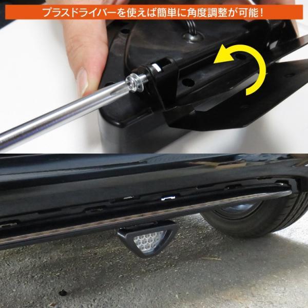 汎用 F1マーカータイプ リフレクター LED 12灯 12V バックフォグランプ テールランプ ブレーキランプ ブラック 黒 kuruma-com2006 03