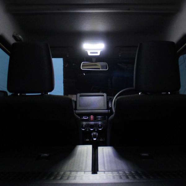 新型 ジムニー ルームランプ LED シエラ アクセサリー パーツ JB64W JB74W とにかく明るい 内装 夜間作業に ホワイト SMD|kuruma-com2006|06