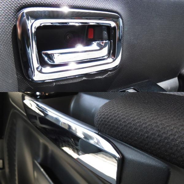 新型 スペーシア カスタム ギア パーツ MK53S 内装2点セット ドアメッキベゼル + フロアマットフルセット|kuruma-com2006|06