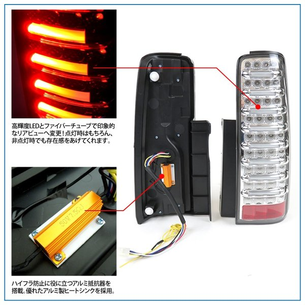 ジムニー シエラ テールランプ LED JB23 JB33 JB43 バックランプ ブレーキ ランプ ファイバーチューブ内臓 パーツ カスタム 外装 テールライト|kuruma-com2006|03