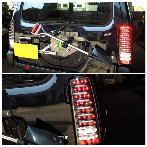 ジムニー シエラ テールランプ LED JB23 JB33 JB43 バックランプ ブレーキ ランプ ファイバーチューブ内臓 パーツ カスタム 外装 テールライト|kuruma-com2006|05