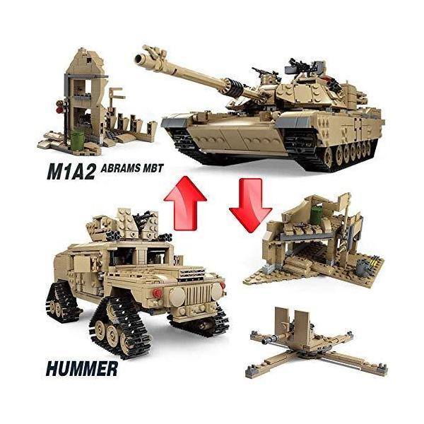 互換 レゴ M1A2 戦車 おもちゃ1:28 エイブラムス ハマー 互換 レゴ lego 2in1 kusunokishop 02