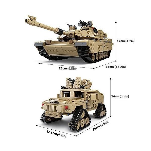 互換 レゴ M1A2 戦車 おもちゃ1:28 エイブラムス ハマー 互換 レゴ lego 2in1 kusunokishop 05