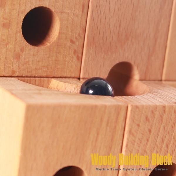 知育 木製ブロック 立体パズル 立体迷宮 積み木 ベーシス仕様 30ピース 知育玩具 ピタゴラスイッチ 藤井聡太|kusunokishop|12