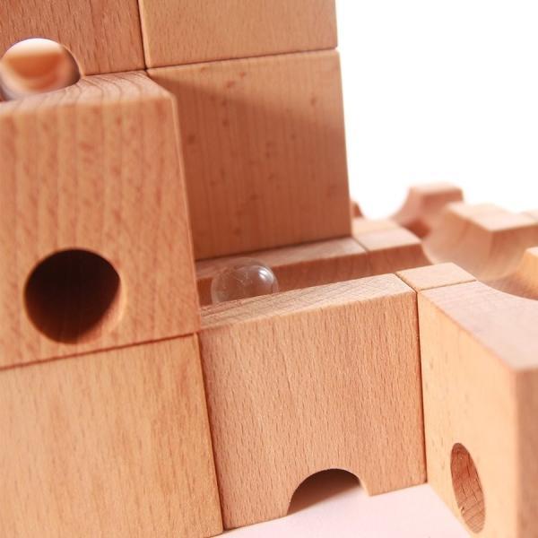 知育 木製ブロック 立体パズル 立体迷宮 積み木 ベーシス仕様 30ピース 知育玩具 ピタゴラスイッチ 藤井聡太|kusunokishop|06
