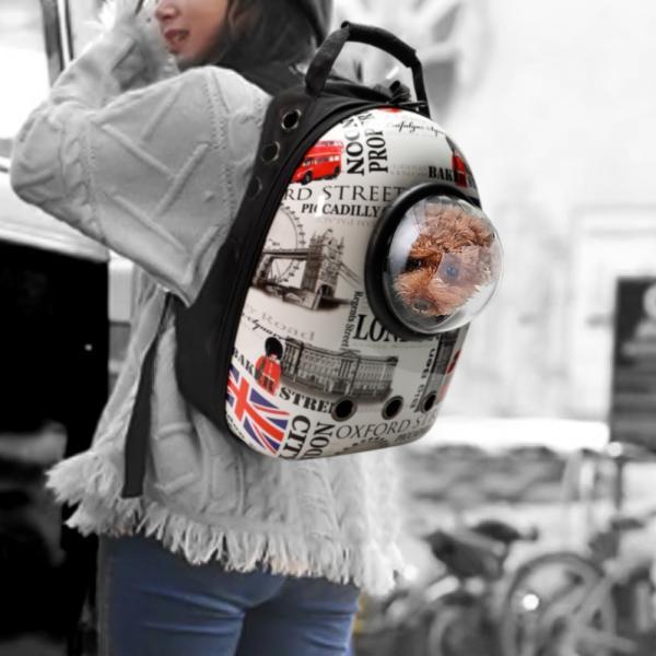 ペットキャリー リュック 手提げ 小型犬 猫 おしゃれ 2色 リュックサック ペットキャリーバック 犬用 猫用 お出かけ お散歩 防災 地震|kusunokishop|16