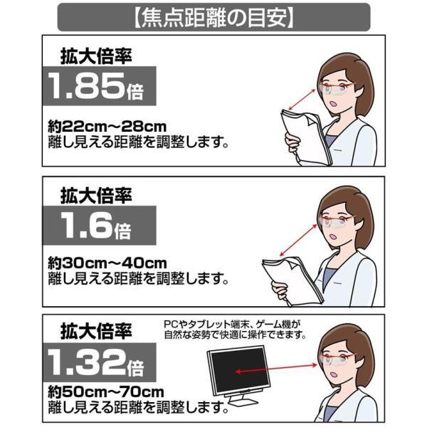 ハズキルーペ コンパクト クリアレンズ 拡大率 1.85倍 1.6倍 1.32倍 選べる8色 長時間使用しても疲れにくい メガネ型 拡大鏡 小林製薬 メガネクリーナーセット kusunokishop 11
